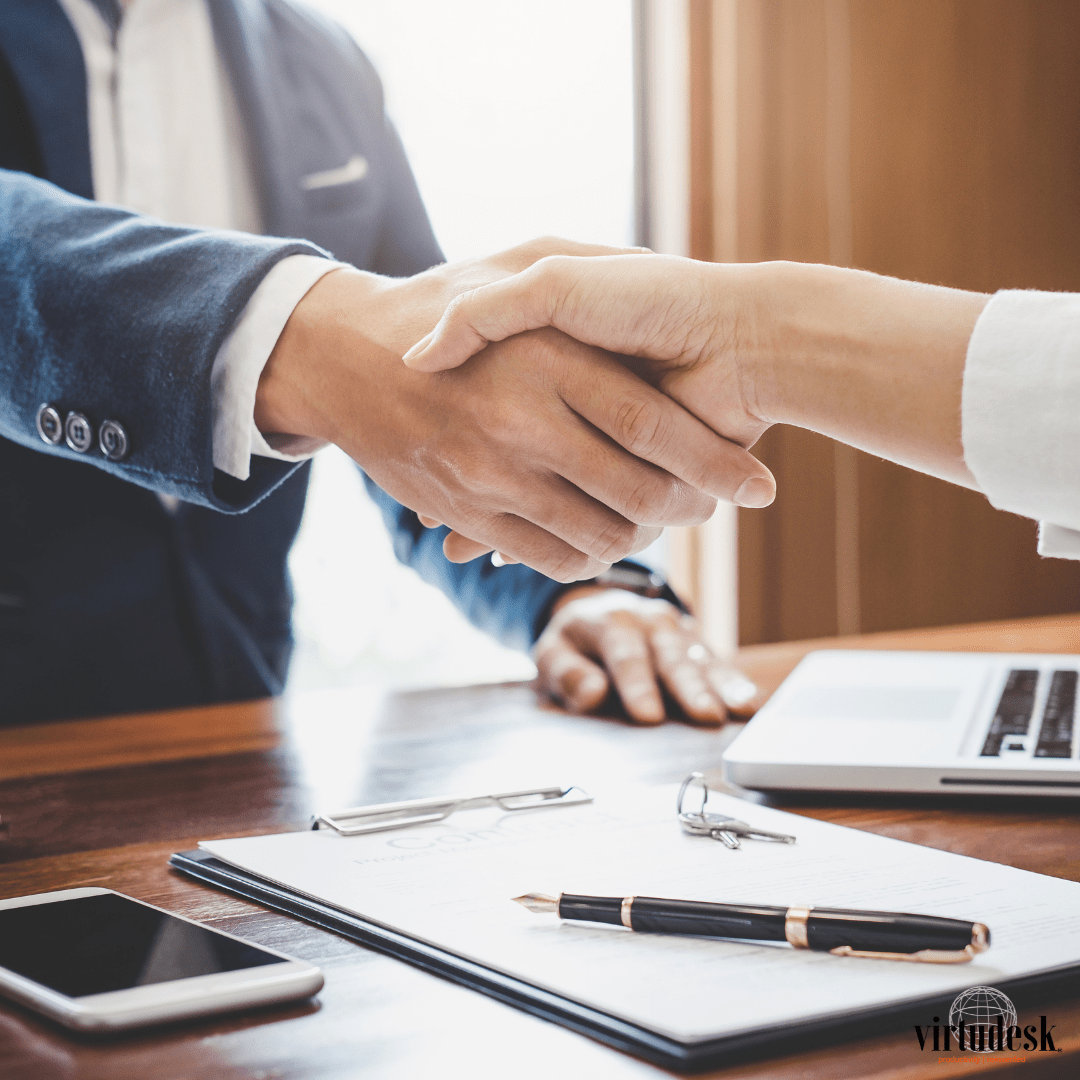 Hand shake virtual assistant for real estate