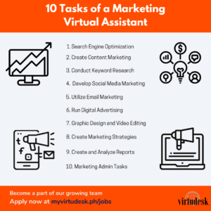 10 Tasks of a Marketing Virtual Assistant