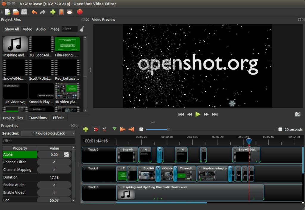 OpenShot Interface